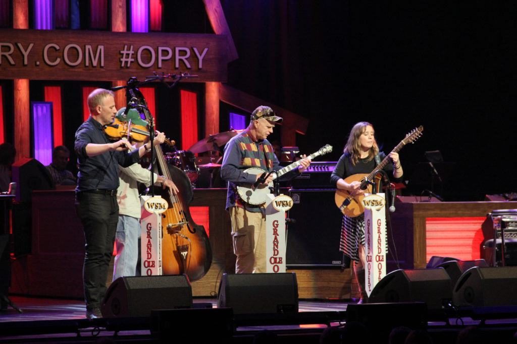 Frances playing at the Grand Ole Opry