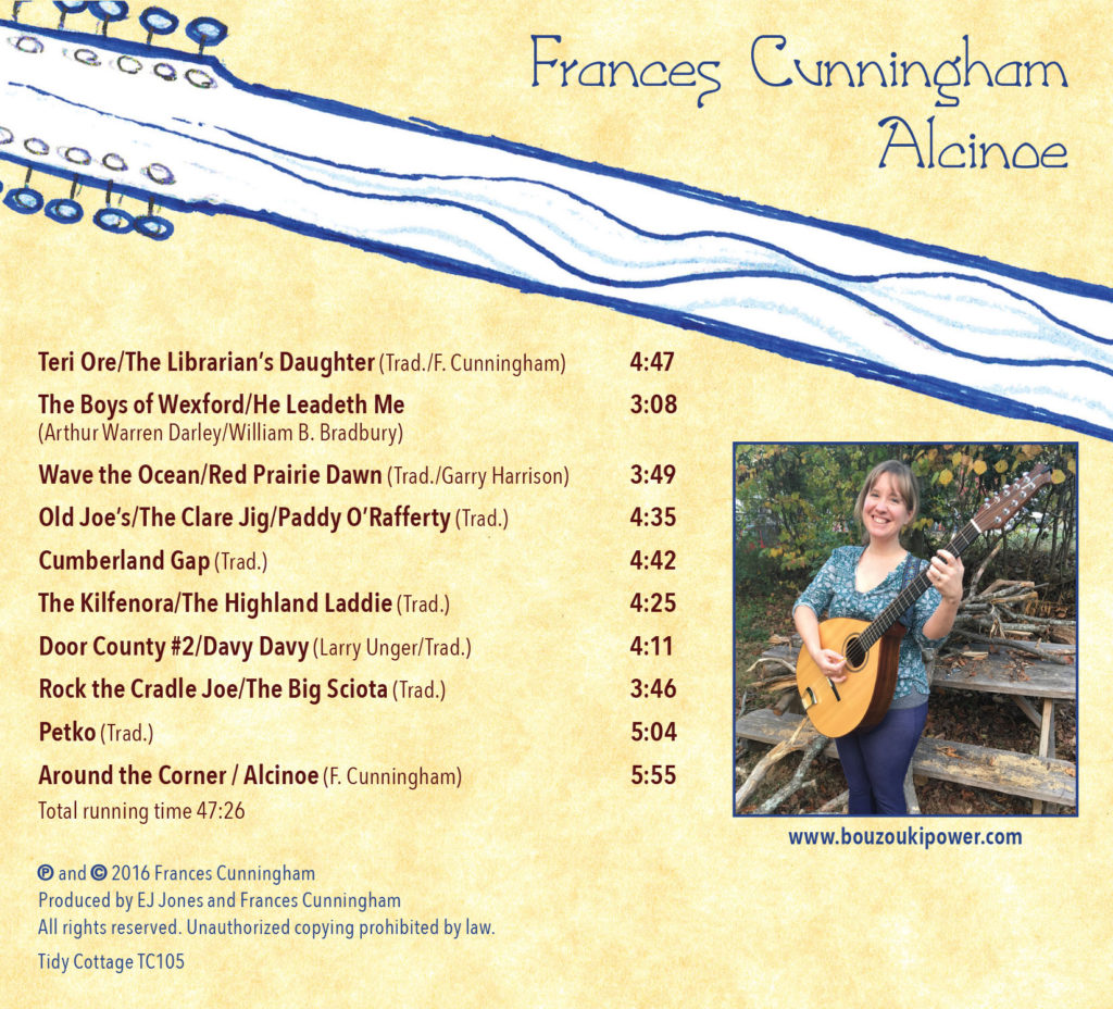Frances Cunningham, Alcinoe CD back cover